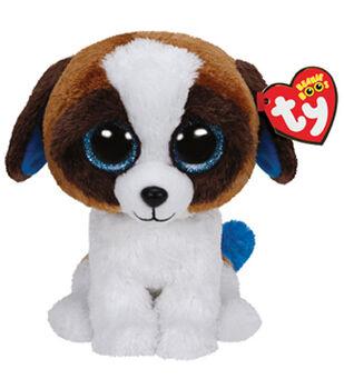 TY Beanie Boo Duke Brown White Dog