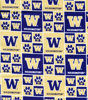 University of Washington NCAA  Cotton Fabric, , hi-res