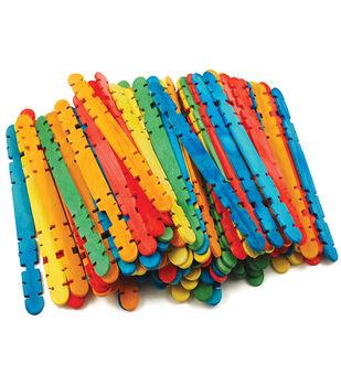 """Craft Skill Sticks Assorted Colors-4.5"""" 100/Pkg"""
