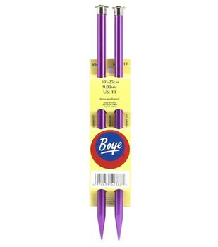"Boye Single Point Aluminum Knitting Needles 10""-Size 13"