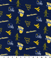 West Virginia University NCAA  Cotton Fabric, , hi-res