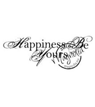 "Wedding Cling Stamp 5.5""X2.5"" Package-Happiness Be Yours"