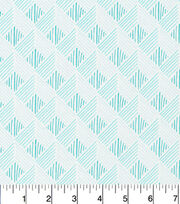 Cloud 9 Premium Cotton Fabric-Zig Zag Turq, , hi-res