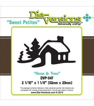 Die-Versions Sweet Petites Die House With Trees