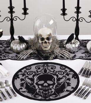 Maker's Halloween 20'' Placemat-Skull
