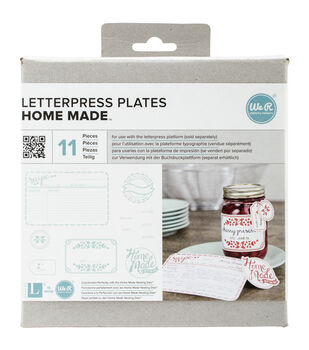 Lifestyle Letterpress Plates-Homemade