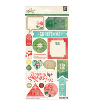 "Evergreen Cardstock Stickers 5.75""X12""-Title"