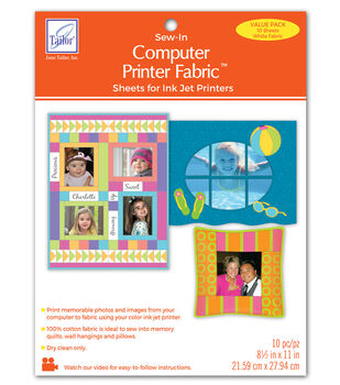 June Tailor Computer Printer Fabric 10/Pkg