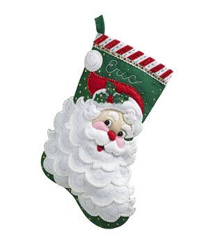 Bucilla® 18'' Jolly Saint Nick Stocking Felt Applique Kit
