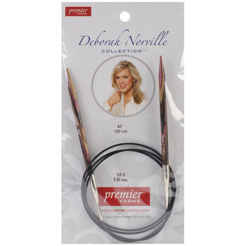 "Deborah Norville Fixed Circular Needles 40"" Size 9/5.5mm"