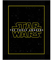 Star Wars VII Logo No Sew Fleece Throw, , hi-res