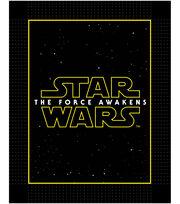 Star Wars VII Logo No Sew Fleece Throw, , hi-res