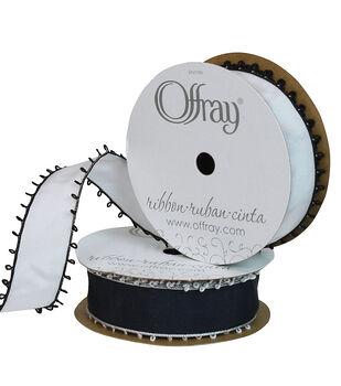 """Offray 7/8""""x9' Picot Taffeta Solid Ribbon"""