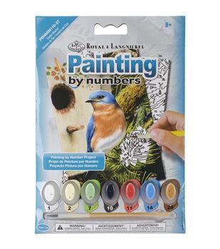 Royal Langnickel Eastern Bluebird Mini Paint By Number Kit