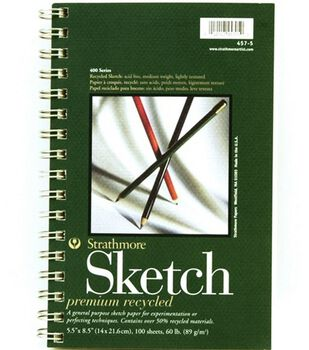 """Sm Recycled Sketch Pad 5""""X8"""""""