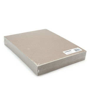 "Grafix 8-1/2""x11"" Medium Weight Chipboard Sheets-25PK/Natural"