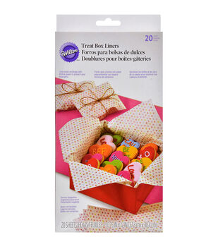 "Wilton® Treat Box Liners 10.75""X12"" 20/Pkg-Words Can Express"