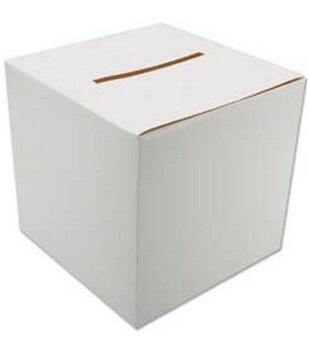 "12""x12"" Foldable Card Box-White"