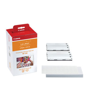 Canon 4''x6'' Post Card Size High Capacity Paper & Color Ink Ribbons