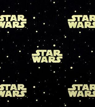 Star Wars™ Metallic Logo Cotton Fabric
