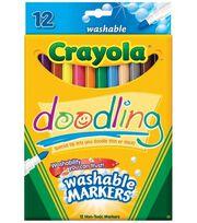 Crayola Doodling Fineline Washable Markers, , hi-res