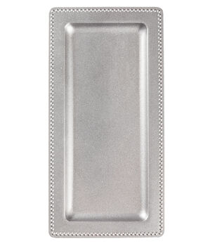 Hudson 43™ Candle&Light Collection 14 X 7 In Rectangle Silver Server Tray
