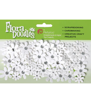 Petaloo Jeweled Florettes Embellishments-80PK