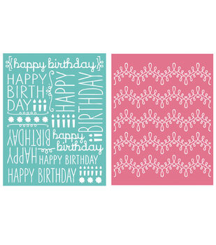 We R Memory Keepers Goosebumpz A2 Embossing Folders Happy Birthday