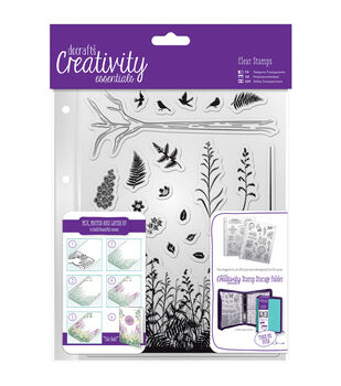 Docrafts Creativity Essentials A5 Clear Stamp Set-Forest
