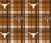 Texas Longhorns NCAA Plaid Fleece Fabric, , hi-res