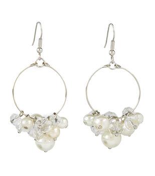 Hoop Pearl and Crystal Earring
