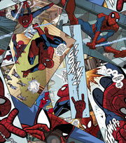 Marvel Spiderman Comic Panel Toss Fleece Fabric, , hi-res