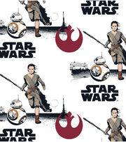 Star Wars VII Rey And BB8 Flannel Fabric, , hi-res