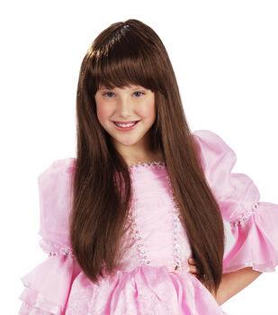 Maker's Halloween Long Children's Wig-Brunette
