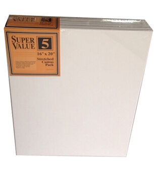 "Jo-Ann Stores Stretched Canvas Super Value Pack 16""x20"""