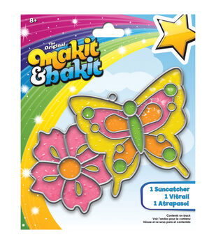 Makit & Bakit Suncatcher Kit-Butterfly & Flower
