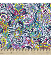 Springmaid® Cotton Fabric-Amelia Paisley , , hi-res