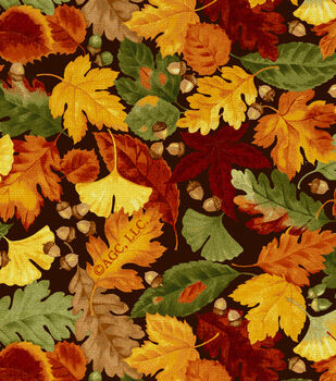Autumn Inspirations Leaves & Acorns Fabric