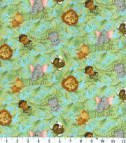 Nursery Fabric-Jungle Babies Toss Flannel, , hi-res
