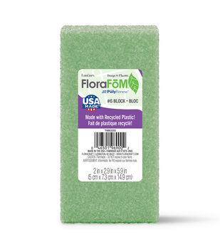 """Styrofoam 1-7/8""""x2-7/8""""x5-7/8"""" Block-1PK/Green"""