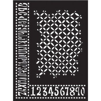 "Ranger Dyan Reaveley's Dylusions Stencils Alphabet Border 9""x12"""