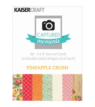 "Captured Moments Double-Sided Cards 3""X4"" 48/Pkg-Pineapple Crush"