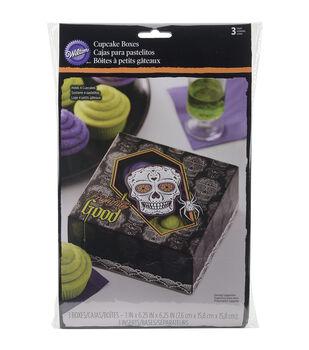 Wilton® Cupcake Boxes 4 Cavity 3/Pkg-Deadly Soiree