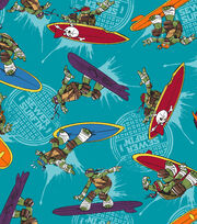 Nickelodeon Teenage Mutant Ninja Turtles Surfin Toss Cotton Fabric, , hi-res
