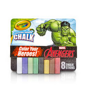 Crayola 8ct Sidewalk Chalk-Hulk, , hi-res
