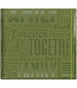 """MBI Gloss Scrapbook 12""""X12""""-Friends-Green"""
