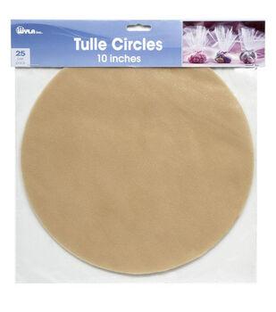 25pk 10'' Tulle Circles
