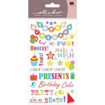 Sticko Classic Stickers Birthday Phrases