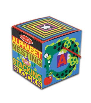 Melissa&Doug Alphabet Nesting And Stacking Blocks