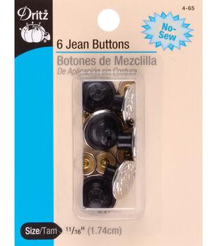 Dritz 0.69'' No-Sew Bachelor Buttons 6pcs
